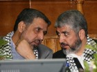 Hamas leader Meshaal and Shallah attend rally in Damascus
