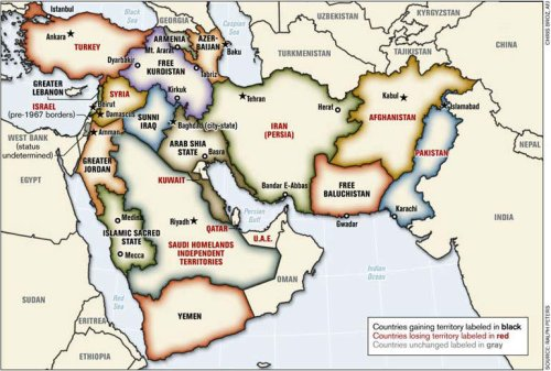 "One of many maps of a ""New Middle East"" floating around."