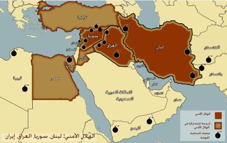 خريطة االهلال الامني من انتاج و تصميم: شارمين نرواني، ايلي عديمي وعلي عماشا اضغط على الصورة للنسخة المكبرة