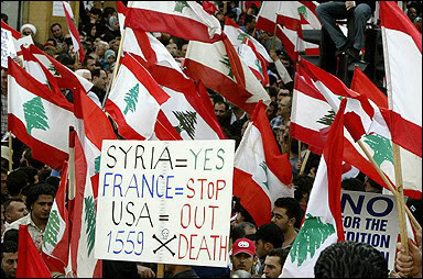 """March 8, 2005: """"Thank you, Syria"""""""